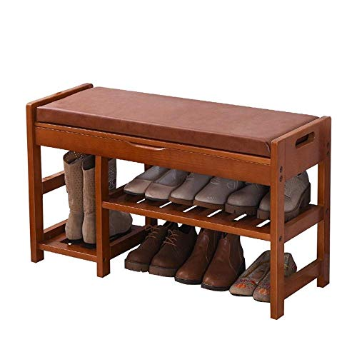 KCSds Schoenenrek, schoen opbergkast Shoe Stand bergkast schoen kabinet, Opslag Kruk Corridor Shoe Locker 3 Layer schoenenkast met zitkussen Wooden Shoe Rack slaapkamer studie
