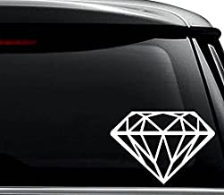 Diamond Jewelry Decal Sticker For Use On Laptop, Helmet, Car, Truck, Motorcycle, Windows, Bumper, Wall, and Decor Size- [6 inch] / [15 cm] Wide / Color- Gloss White