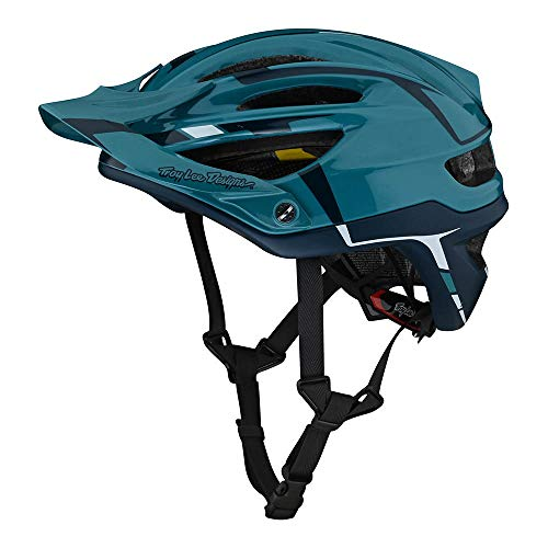 Troy Lee Designs Adulto | All Mountain | Casco de bicicleta de montaña Half Shell A2 Sliver W/MIPS (Marine, MD/LG)