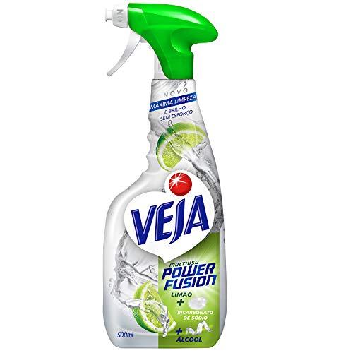 Limpador Spray Multiuso Power Fusion Limão, Veja, 500Ml, Veja, Branco