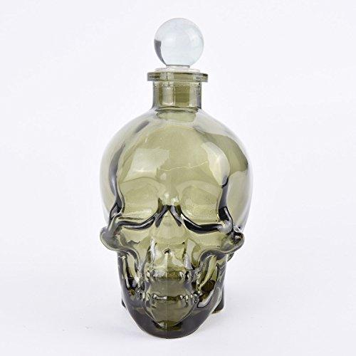 Temerity Jones Skull karaf glas groen-zwart