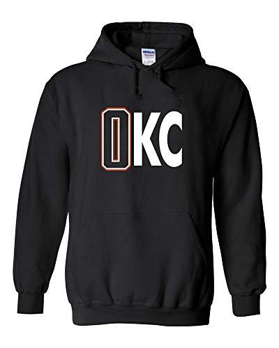 Black Russell Westbrook Oklahoma City 0KC Hooded Sweatshirt Hoodie