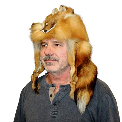 "Glacier Wear Red Fox Fur Mountain Man Hat (XL (23 ½"" – 23 7/8""))"
