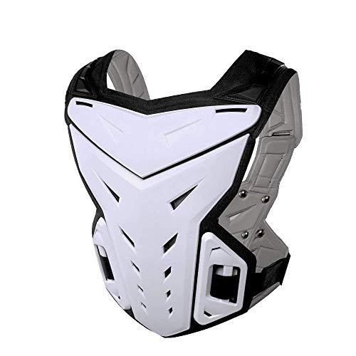 Outdoor Sport Zubehör Anti-Fall-Weste Sportjacke Motorradrennen Körperschutz Schutzkleidung für Dirtbike Motocross Skifahren Snowboarden (Farbe : Weiß)