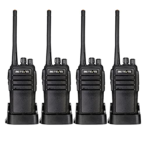 Case of 4,Retevis RT21 Walkie Talkies Adults Rechargeable, Two Way Radios Long Range,16 Channels VOX Hands Free Emergency 2-Way Radio for Family and Small Organization Business