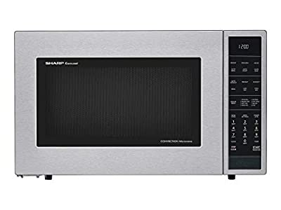 Sharp SMC1585BS Carousel 1.5 Cubic Foot 900W Kitchen Countertop Convection Microwave Oven, Stainless Steel (Certified Refurbished)