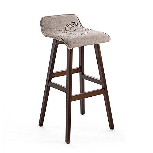 ZHANGRONG- Tabouret de bar avec siège en tissu et cadre en bois, dossier confortable et repose-pieds Set de 2 -Tabouret de canapé (Couleur : B, taille : 40 * 40 * 65cm)