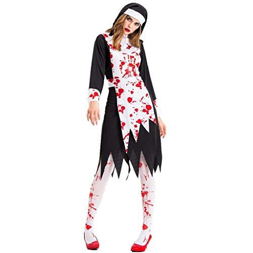 Dames Cosplay Kostuums, Nieuwe Halloween Zwarte Gaas Heks Kostuum, Temperament Heks Ghost Game Suit Queen Suit met Vrouwen Schedel Gedrukt Heks Plus-Size Jurk Halloween Cosplay Party Jumpsuit