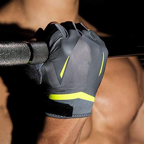asdf Fitness Gloves Men and Women Equipment Training Sports Wrist Pull-ups Horizontal Bar Non-Slip Half Finger Exercise Protective Equipment
