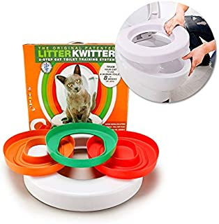Cat Training Toilet Seat Pet Plastic Litter Box Litter Tray Kit Pet Kitty Potty Train System Cat Nip with Step by Step Training Guide