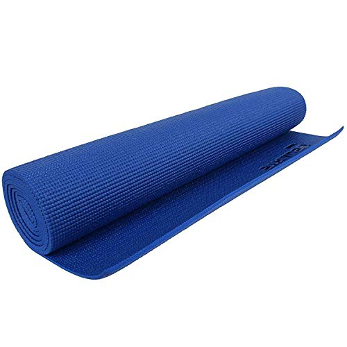 Strauss Yoga Mat, 6mm (Blue) for Gym Workout and Yoga Exercise with 6mm Thickness, Anti-Slip Yoga Mat for Men & Women Fitness