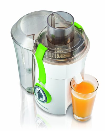 Hamilton Beach Juice Extractor, 67602A (Discontinued), White/Green