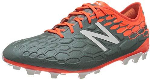 New Balance Visaro 2.0 Pro AG, Zapatillas de Fútbol Hombre, Gris (Grau/Neonrot Grau/Neonrot), 40.5 EU