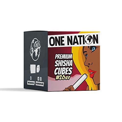 One Nation | Shisha Kohle Naturkohle aus 100% Kokosnuss - bis zu 120 Minuten Brenndauer | Starke Hitze | kein Eigengeschmack (2kg)