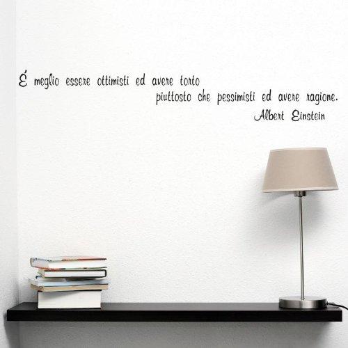 Adesiviamo Albert Einstein M Adesivo Murale, PVC, Nero, 120 x 24 cm