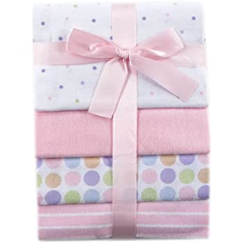 Luvable Friends Unisex Baby Cotton Flannel Receiving Blankets, Pink, One Size