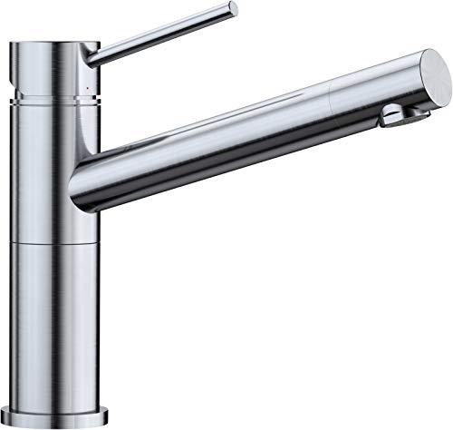 BLANCO ALTA Compact Küchenarmatur / Kompakter Einhebelmischer in Edelstahl finish / Hochdruck