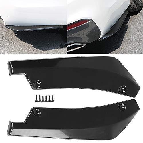 Qiilu Rear Diffuser 1 Pair of Car Universal Rear Bumper Installed at the bottom for Lip Diffuser Splitter Canard Protector Rear Canards (Black)