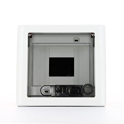 Gewiss - Gw40601 scatola elettrica - quadro elettrico (arancione, trasparente, di colore bianco, 83 millimetri, 160 mm, 74 millimetri)