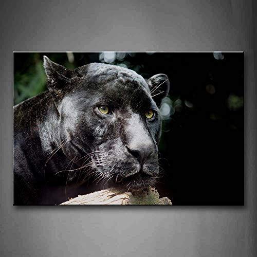 Wandkunst Bilder Panther Holz Leinwanddruck Tierposter Mit Für Wohnzimmer Büro Decor (Kein rahmen) R1 50x70 CM