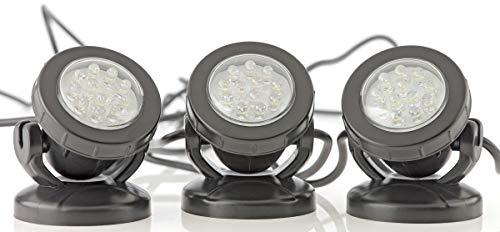 Pontec 57520 Unterwasserbeleuchtung PondoStar LED 3-er set | LED-Spotset | Beleuchtung | Unterwasserscheinwerfer | Teichbeleuchtung