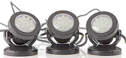 Pontec 57520, PondoStar LED, Pack de 3 focos, 3x50x70 mm