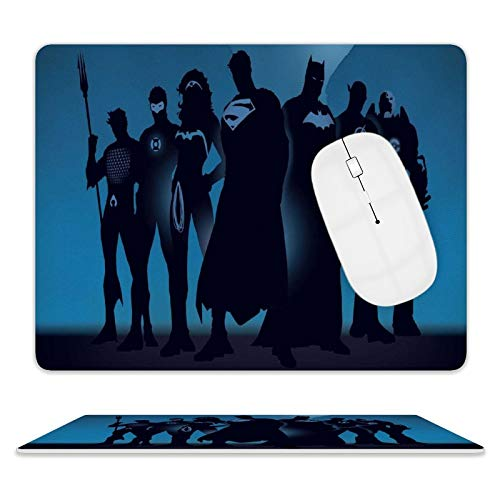 L.T Batman Superman Blue Mouse pad Mouse pad Gaming for Wireless Mouse Office steam Laptop Computer Movie Animation Waterproof Non-Slip RubberOne Size