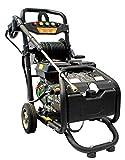 Limpiador de alta presión de gasolina con tambor de manguera, máx. 220 bar, 3200 psi, motor de 7 CV con 210 cc, máquina de limpieza con 5 boquillas.