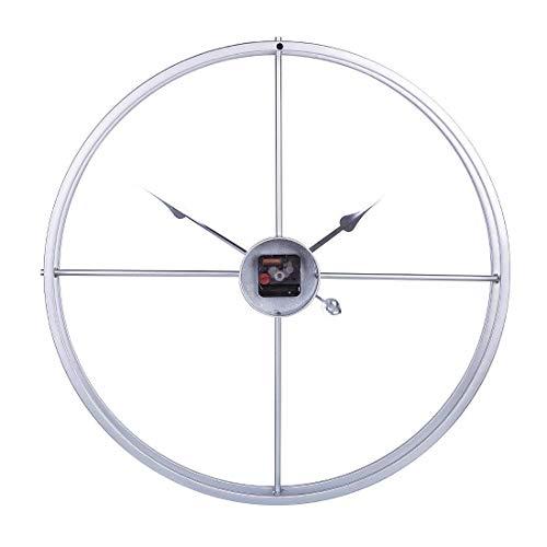 Large Metal Wall Clock, Ronde Gepersonaliseerde Modern Chic Niet Ticking wandklokken voor de woonkamer, keuken, slaapkamers, Office, Cafe, Bar 60CM / 24inch