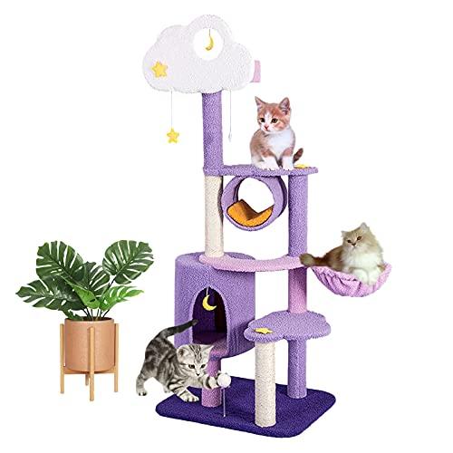 Árbol De Actividades para Gatos De Nebulosa De Fantasía, Marco De Escalada para Gatos Pequeños Y Centro De...