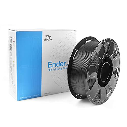 Creality Ender PLA 3D Printer 1kg Filament Diameter 1.75mm Dimensional Accuracy +/- 0.02 mm Filament for FDM Printers or 3D Pen - Easy to Print (Black)