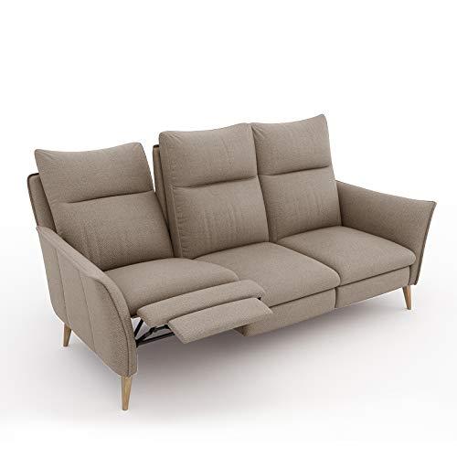 place to be. Sofa 3 Sitzer Recliner mit Zwei verstellbaren Liegefunktionen/Couch zum Fernsehen und Relaxen Eiche Sand
