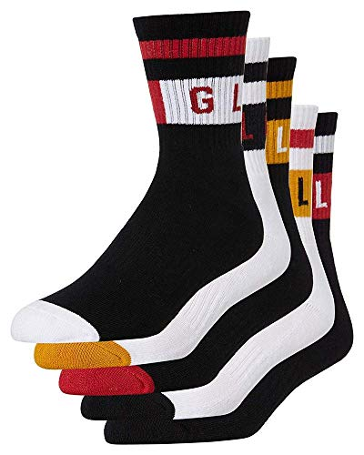 Globe Block Wrap Sock 5er-Pack Socken, Unisex, Erwachsene, mehrfarbig, 7-11