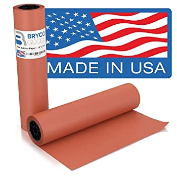 Pink Kraft Butcher Paper Roll - 18 Inch x 175 Feet  2100 Inch  - Food Grade Peach Wrapping Paper for Smoking Meat of all Varieties - Made in USA