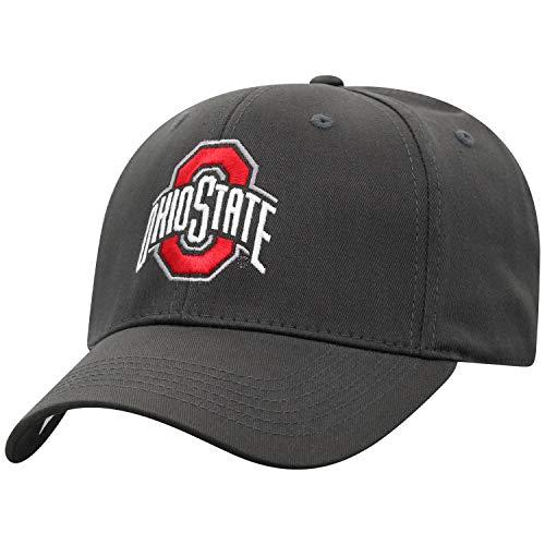Top of the World Herrenhut, tailliert, Anthrazit, Herren, NCAA Men's Fitted Hat Relaxed Fit Charcoal Icon, Ohio State Buckeyes Dunkelgrau, Einheitsgröße