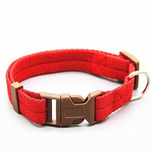 NC Collar de perro de 7 colores ajustable con hebilla de clip para perros, collares de cabeza tamaño S/M/L/XL cachorro grande