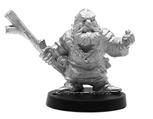 Stonehaven Male Dwarven Wizard Miniature Figure (for 28mm Scale Table Top War Games) - Made in US