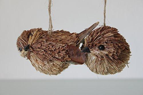 Kerst @ Thumpers set van 2 gevederde borstelharen twitter vogels 7.5cm