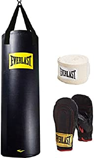 Everlast Heavy Bag Kit with Punching Bag, Gloves Hand and Wraps …