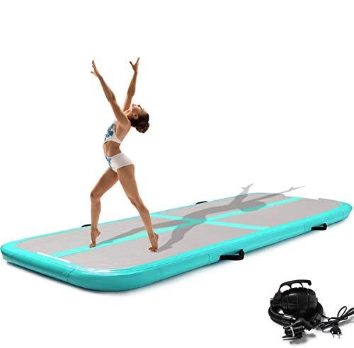 Onsoyours - Esterilla de entrenamiento hinchable, fibra de carbono, 20 cm de altura, con bomba de aire para ejercicios de gimnasia