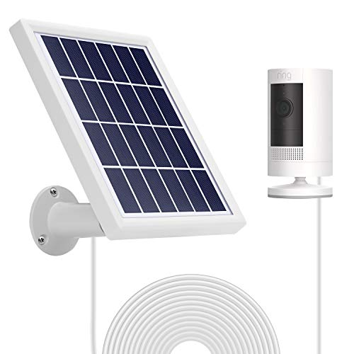 OLAIKE Solar Panel for Spotlight Cam Battery & All Stick Up Battery Cam - Waterproof Charge Continuously,5 V/3.5W(Max) Output,Includes Secure Wall Mount,3.8M/12ft Power Cable(No Include Camera),White