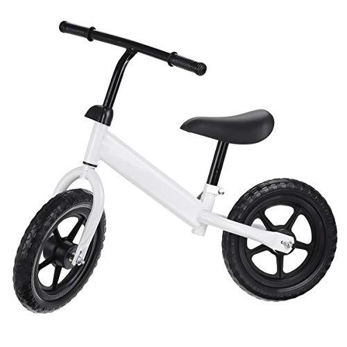 QHY 12' Bebé Bicicleta De Equilibrio Niños Caminante Bicicleta Paseo En Juguete Dos Ruedas Regalo para 1-6 Años Niños Aprendizaje Caminar Carreras Corredizo Bicicleta