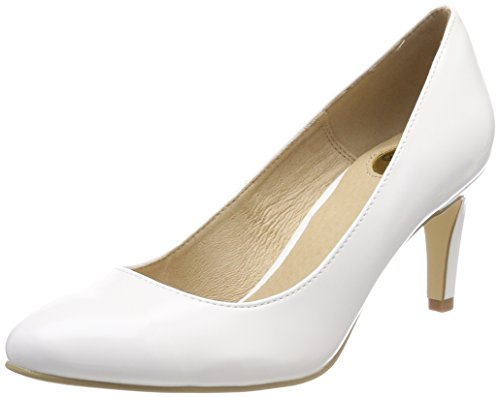 Buffalo Damen C564A-1 P1239K Box PU Pumps, Weiß (White), 39 EU