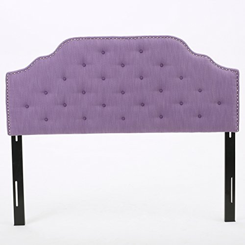 Christopher Knight Home Silas Headboard - Fully Upholstered, Queen / Full, Light Purple