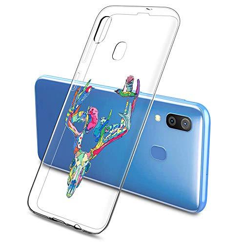 Suhctup Funda Compatible con Galaxy A8 Plus 2018 Transparent,Carcasa Protección Silicona Gel TPU Bumper Moda Dibujos Protector Piel Ultra Pulgadas Anti Choques Estuche Case para Galaxy A8+ 2018(8)