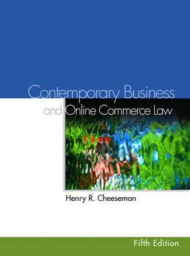 Contemporary Business Law and Online Commerce Law (5th Edition)
