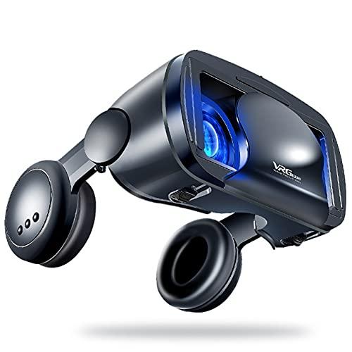 MARSPOWER Versión Audiovisual del teléfono móvil Integrado Big Headset con 3D Cinema Gift 2020 Nuevas Gafas de Realidad Virtual