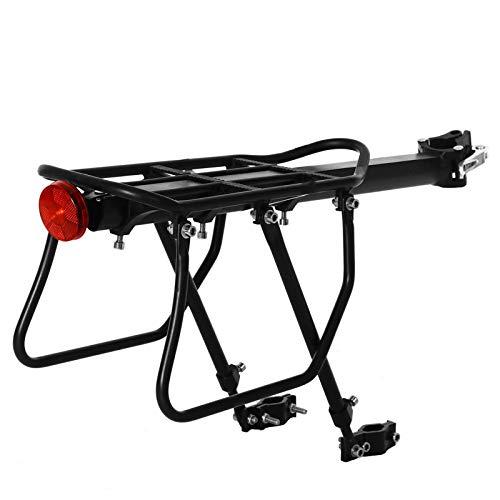 PQXOER Portaequipajes traseros para bicicleta, bicicleta de montaña, soporte trasero, carga máxima de 50 kg