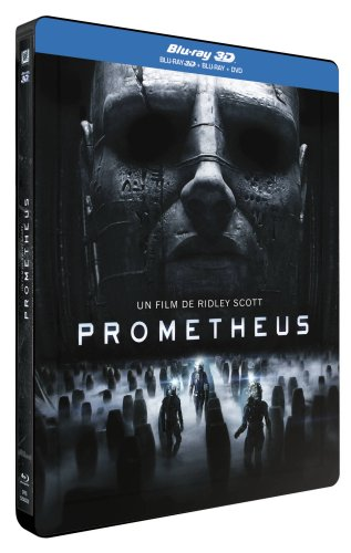 Prometheus 3D Steelbook Blu-Ray3D + Blu-Ray + DVD (Limited Lenticular Steelbook, FR-Import ohne deutsche Tonspur) Regionfree