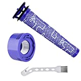 1 Replacement Pre Filter + 1 HEPA Post-Filter kit Compatible with Dyson V7, V8 Cordless Vacuum Cleaners, Replace Part # 965661-01 & 967478-01 ( Included 1 Clean Brush )